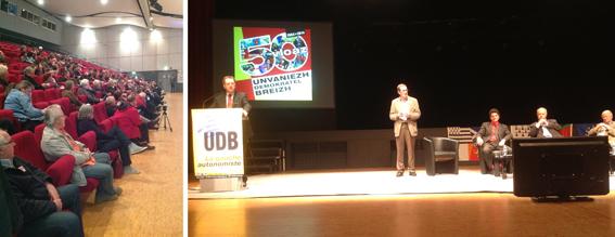 un auditoire attentif et motivé à l'occasion des 50 ans de l'UDB.